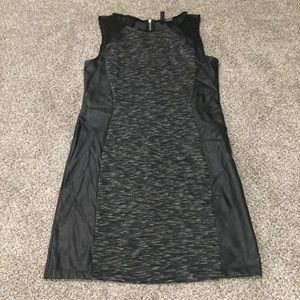 Faux Leather Cocktail Dress